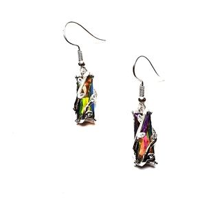 Multicolor Crystal Stained Glass Earrings